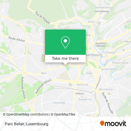 Parc Belair map