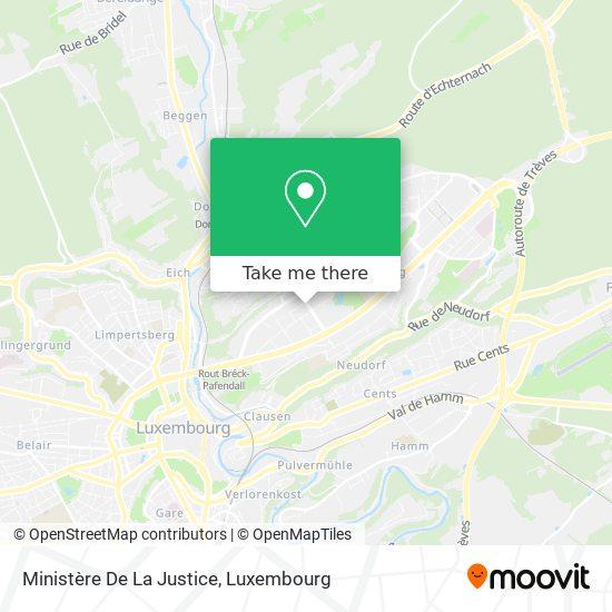 Ministère De La Justice map