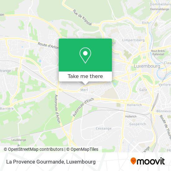 La Provence Gourmande map