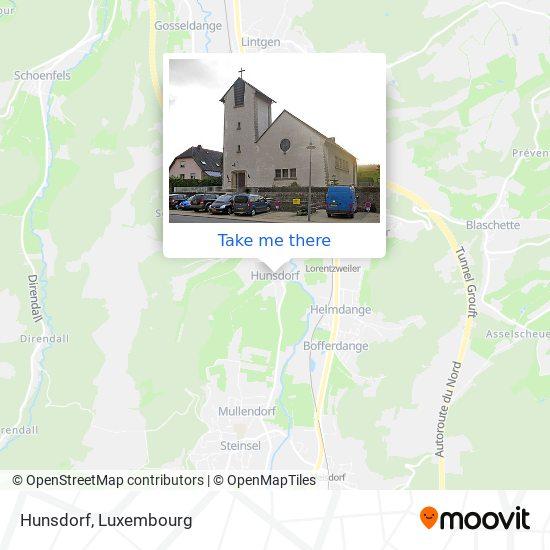Hunsdorf map