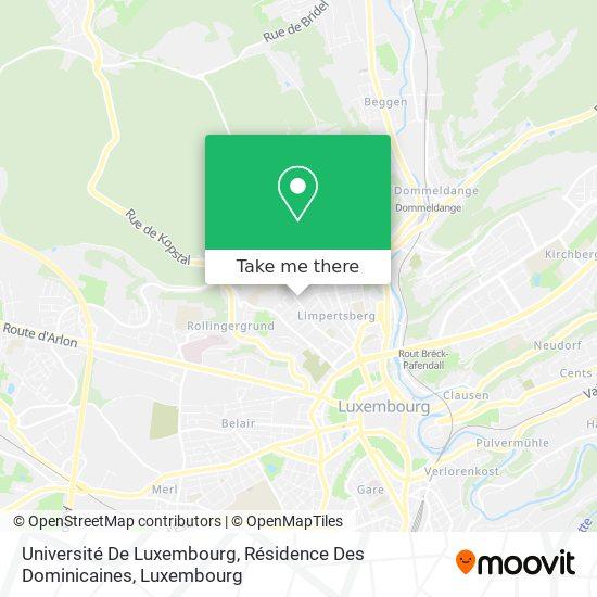 Université De Luxembourg, Résidence Des Dominicaines map
