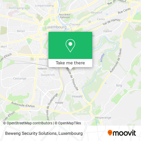 Beweng Security Solutions map