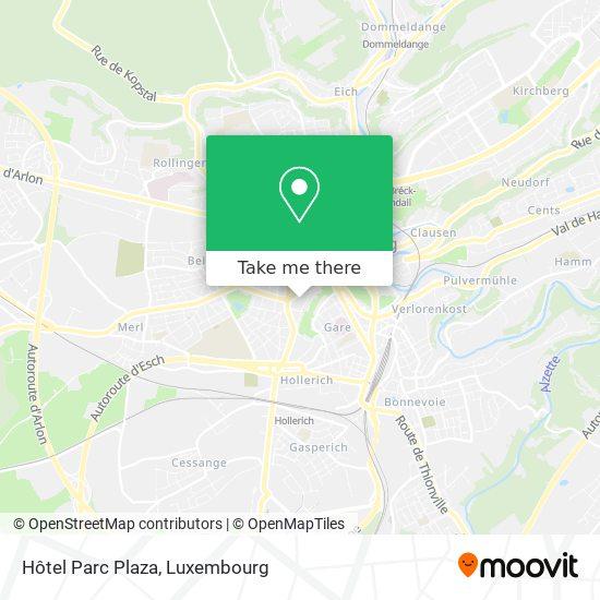 Hôtel Parc Plaza map
