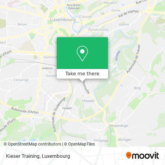 Kieser Training map