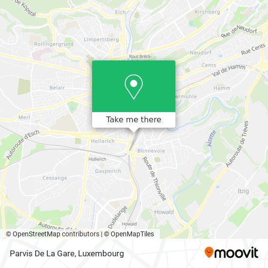 Parvis De La Gare map