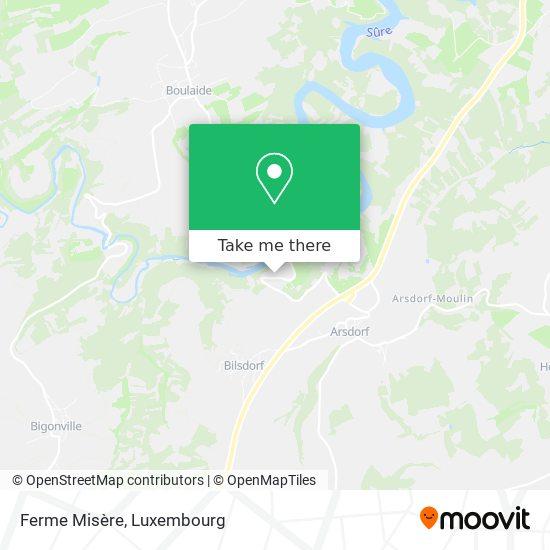Ferme Misère - Centre De Formation Fnel map