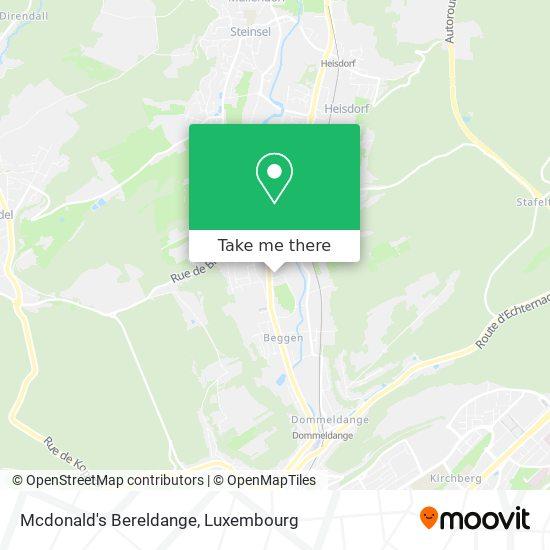 Mcdonald's Bereldange map