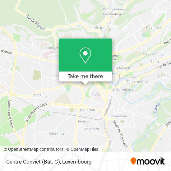 Centre Convict map