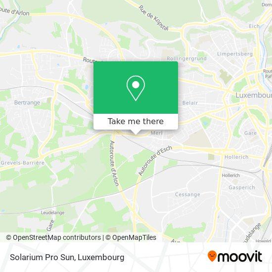 Solarium Pro Sun mapa
