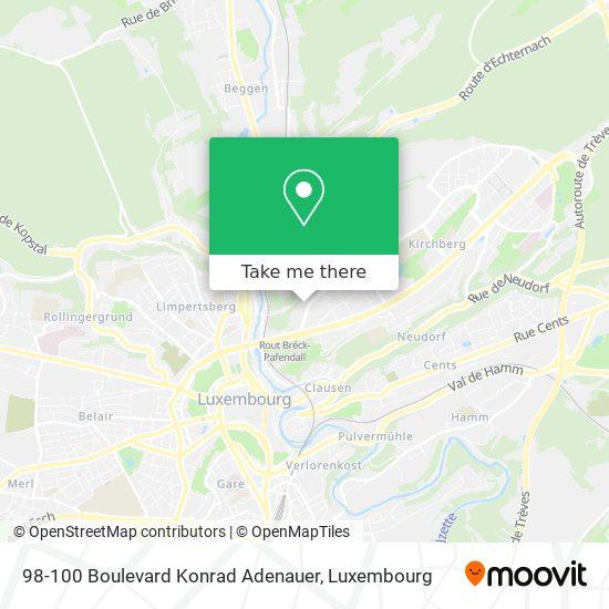 98-100 Boulevard Konrad Adenauer map
