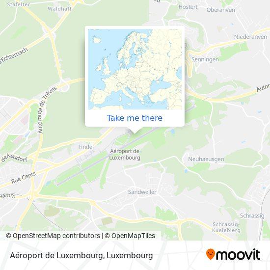 Aéroport de Luxembourg map
