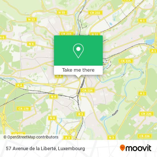 57 Avenue de la Liberté map
