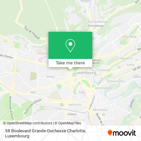 58 Boulevard Grande-Duchesse Charlotte map
