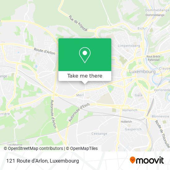121 Route d'Arlon map