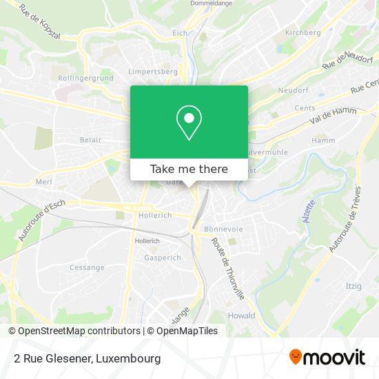 2 Rue Glesener map