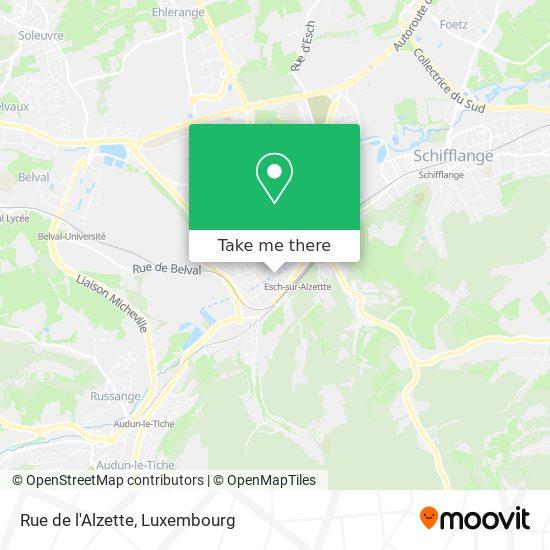 Rue de l'Alzette map