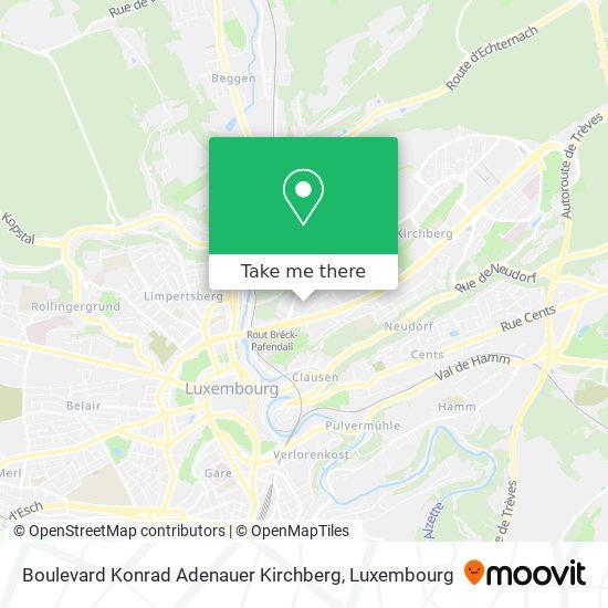 Boulevard Konrad Adenauer Kirchberg map