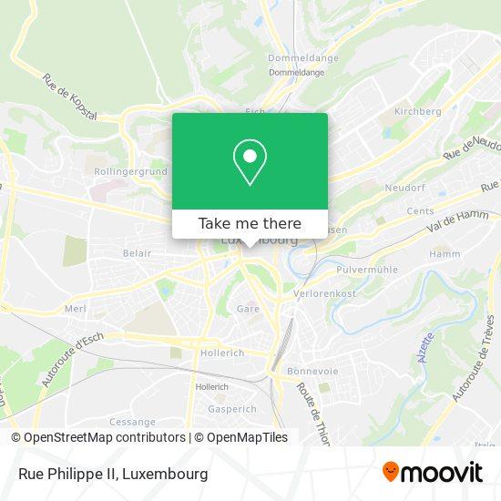 Rue Philippe II map