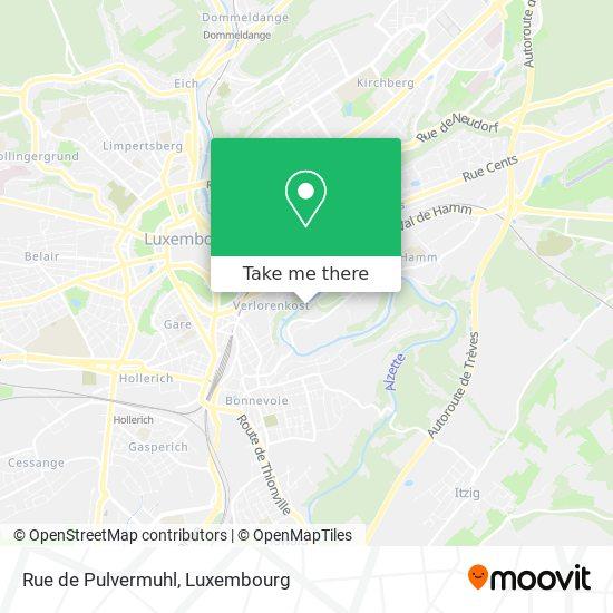 Rue de Pulvermuhl map