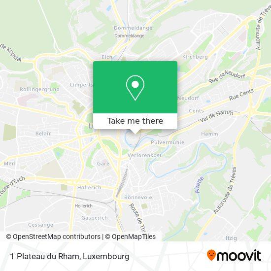 1 Plateau du Rham map
