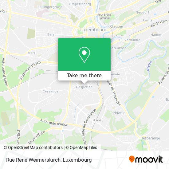 Rue René Weimerskirch map
