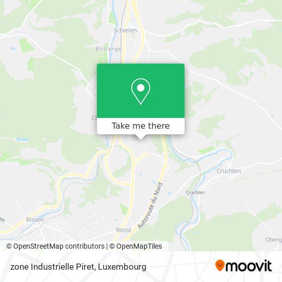 zone Industrielle Piret map