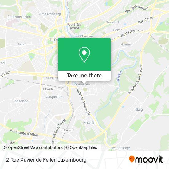 2 Rue Xavier de Feller map