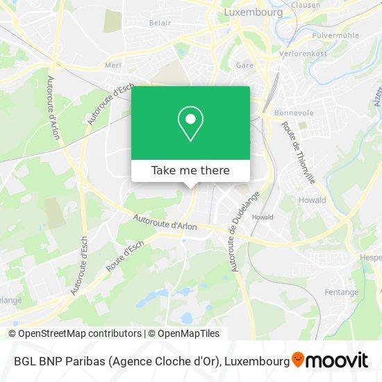 BGL BNP Paribas (Agence Cloche d'Or) map