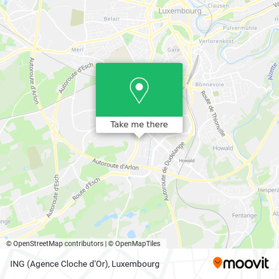 ING (Agence Cloche d'Or) map