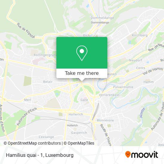 Hamilius quai - 1 map