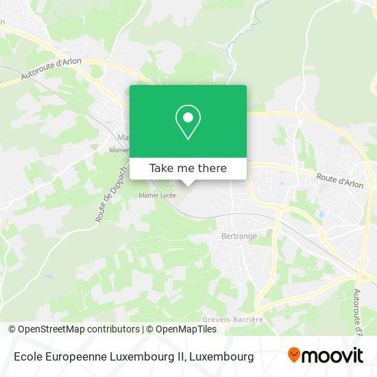 Ecole Europeenne Luxembourg II map