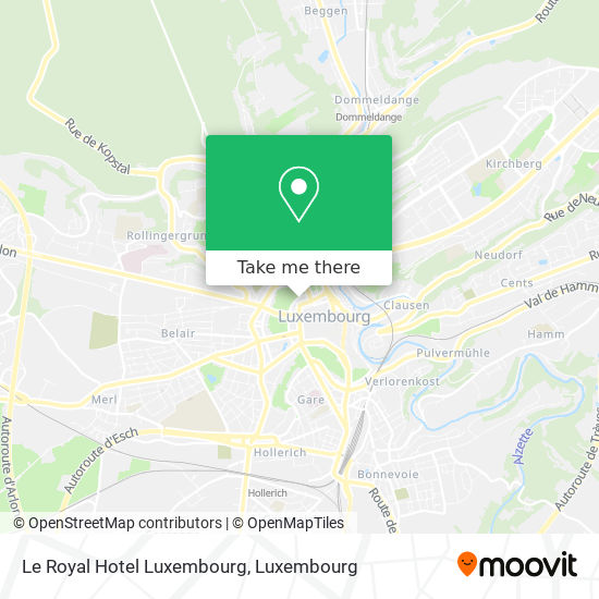Le Royal Hotel Luxembourg map