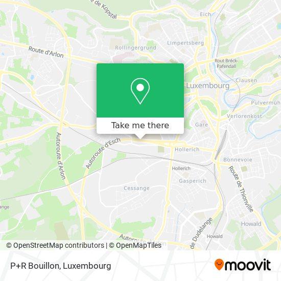 P+R Bouillon map