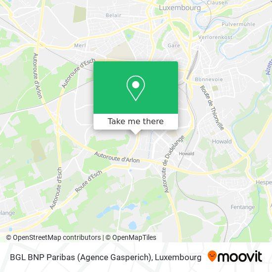 BGL BNP Paribas (Agence Gasperich) map