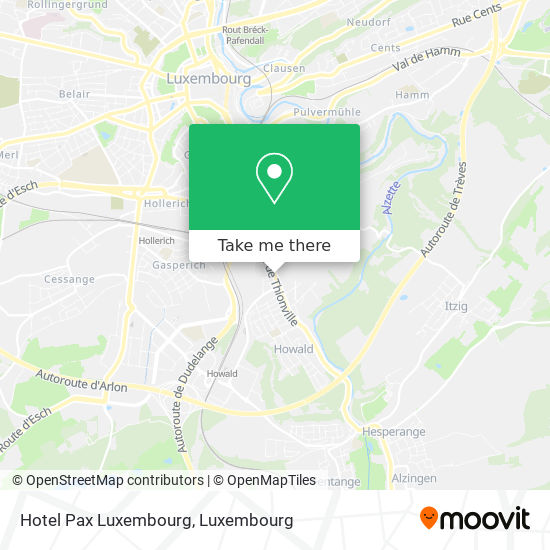 Hotel Pax Luxembourg map