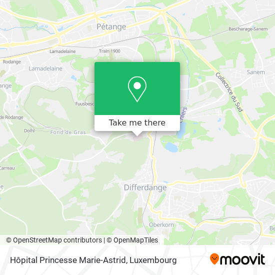 Hôpital Princesse Marie-Astrid map