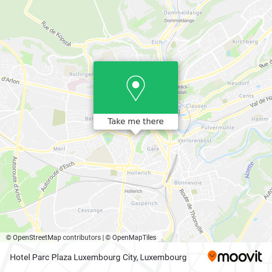 Hotel Parc Plaza Luxembourg City map