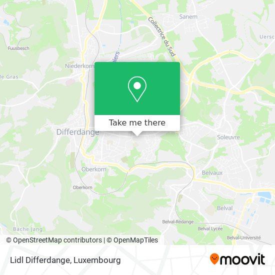 Lidl Differdange map