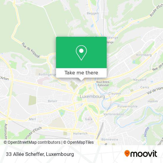 33 Allée Scheffer map