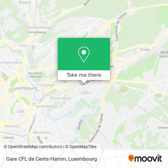 Gare CFL de Cents-Hamm map