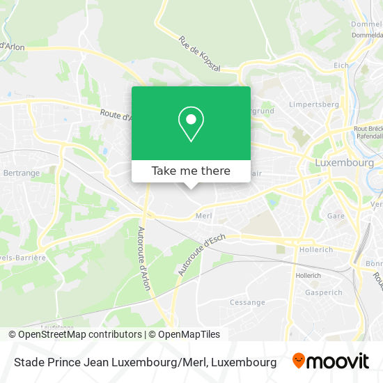 Stade Prince Jean Luxembourg / Merl map