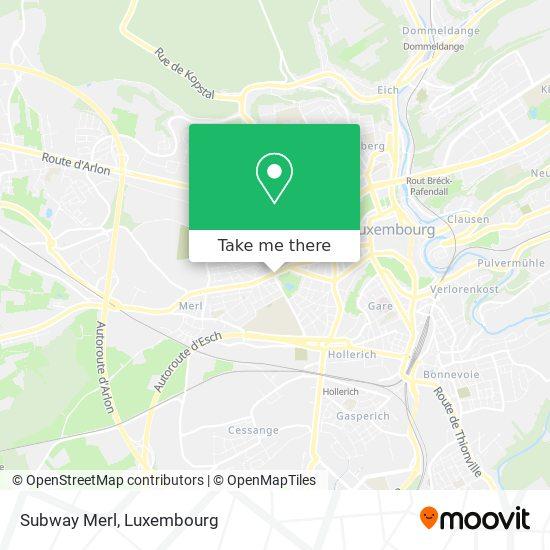 Subway Merl map