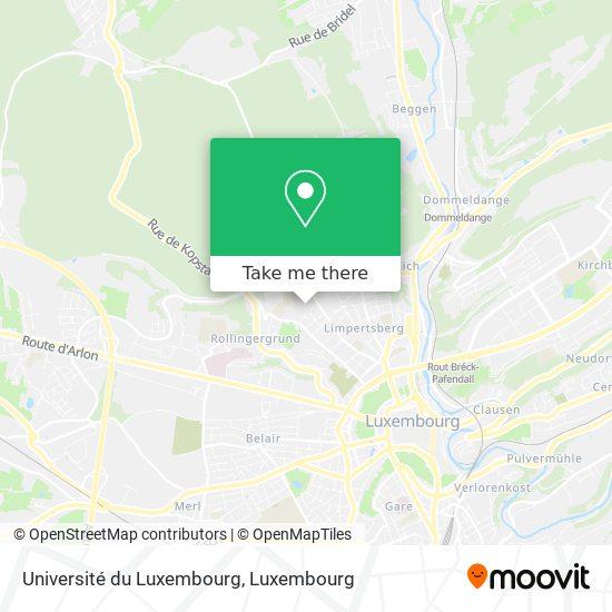 Université du Luxembourg map