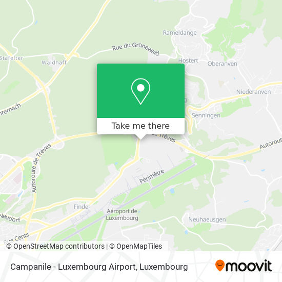 Campanile - Luxembourg Airport map