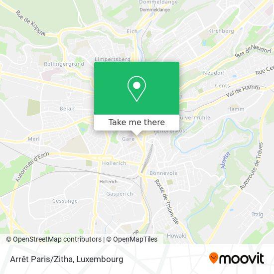 Arrêt Paris/Zitha map