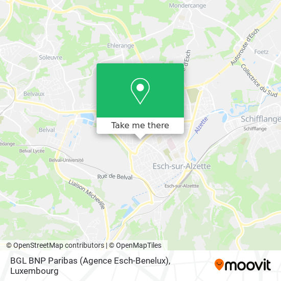BGL BNP Paribas (Agence Esch-Benelux) map
