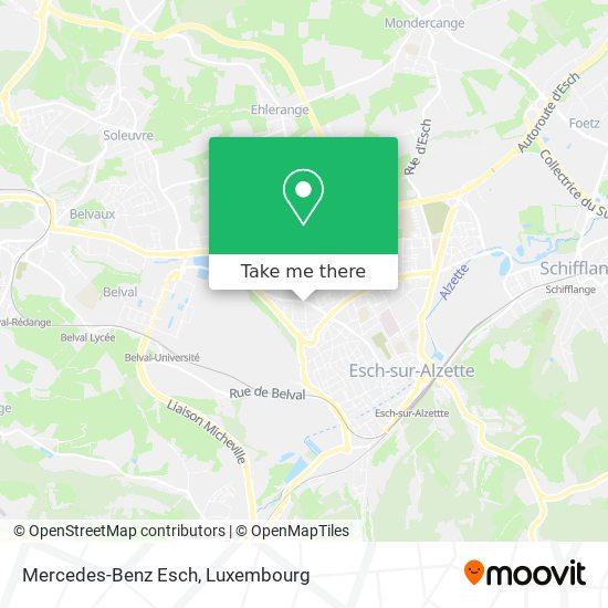 Mercedes-Benz Esch map