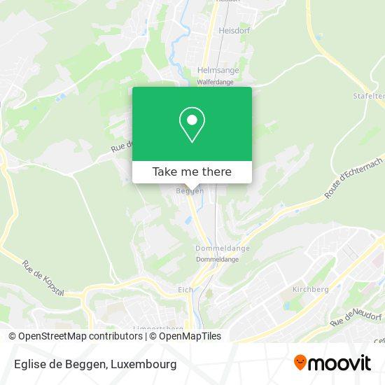 Eglise de Beggen map