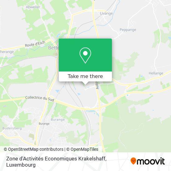 Zone d'Activités Economiques Krakelshaff map