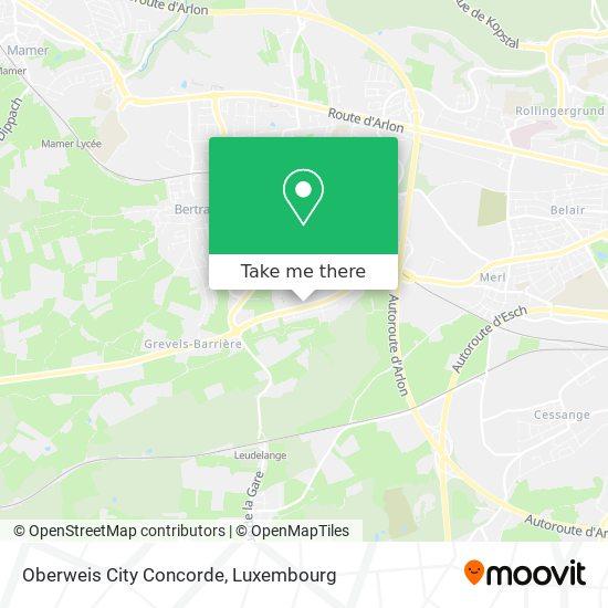 Oberweis City Concorde map